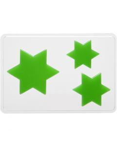 Gjutformar, Stjärnor, H: 6+8+10 cm, stl. 14,9x22 cm, 1 st.