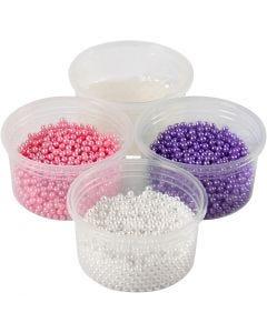 Pearl Clay® , rosa, lila, vit, 1 set, 3x25+38 g