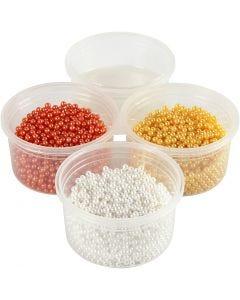 Pearl Clay® , orange, vit, gul, 1 set