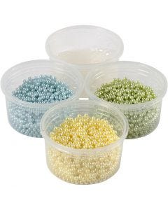 Pearl Clay® , ljusblå, ljusgrön, ljusgul, 1 set, 3x25+38 g