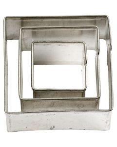 Stansformar, fyrkant, stl. 20+30+40 mm, 3 st./ 1 förp.