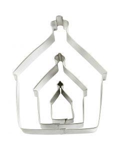 Stansformar, hus, stl. 9,5x12,8 cm, 3 st./ 1 förp.