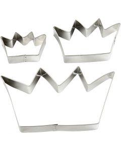 Stansformar, krona, stl. 13,3x7,5 cm, 3 st./ 1 förp.