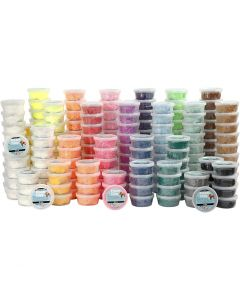 Foam Clay® , mixade färger, 22x10 burk/ 1 förp.
