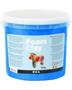 Foam Clay® , metallic, blå, 560 g/ 1 hink