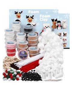 Klasset till polardjur av Foam Clay® , mixade färger, 1 set