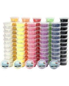 Foam Clay® , mixade färger, 10x12 burk/ 1 förp.