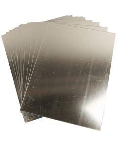 Spegelplast, 29,5x21 cm, tjocklek 1,1 mm, 10 ark/ 1 förp.