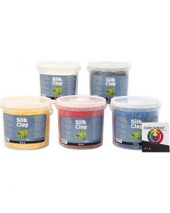 Silk Clay®, primärfärger, 5x650 g/ 1 förp.