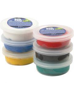 Silk Clay®, standardfärger, 6x14 g/ 1 förp.