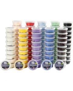 Silk Clay®, mixade färger, 10x10 burk/ 1 förp.