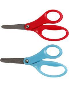 Barnsax, L: 13 cm, höger, blå, röd, 12 st./ 1 förp.