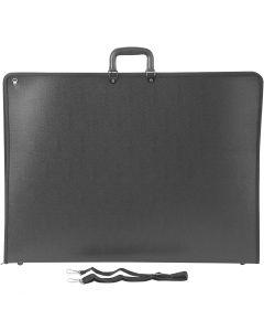 Portfolio/Portföljmapp, A2, 420x600 mm, stl. 74x55 cm, svart, 1 st.