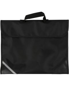 Skolväska, stl. 36x29 cm, svart, 1 st.