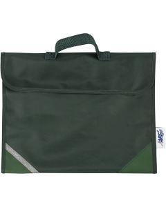 Skolväska, stl. 36x29 cm, grön, 1 st.