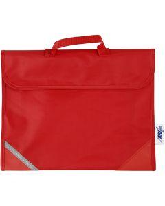 Skolväska, stl. 36x29 cm, röd, 1 st.