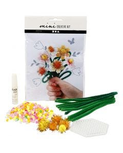 Mini kreativt set, blommor, 1 set