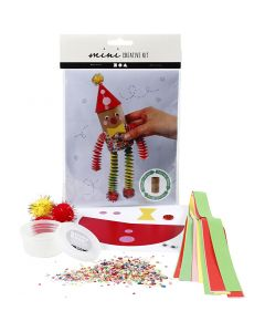 Kreativt Minikit, Toalettrulle clown, 1 set
