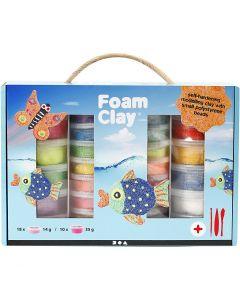 Foam Clay® presentask, mixade färger, 1 set