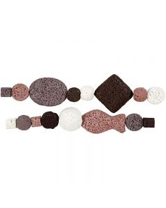Luxury Bead Harmony, Dia. 6-37 mm, Hålstl. 2 mm, gml. rosa (25), 1 set