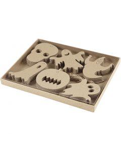 Halloween-ornament, stl. 7-10 cm, 6x10 st./ 1 förp.