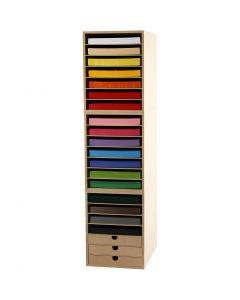 Kartong inkl. reol, H: 100 cm, A4, 210x297 mm, 180 g, mixade färger, 1 set
