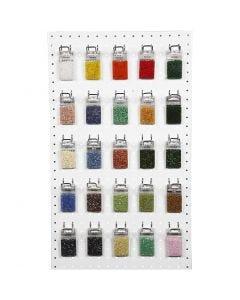 Rocaipärlor, mixade färger, 50x25 g/ 1 förp.
