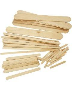 Glasspinnar, L: 5,5+11,5+19+20 cm, B: 6+10+25 mm, 4250 st./ 1 förp.