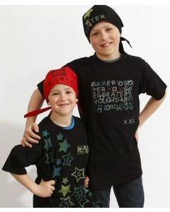 T-shirt och bandana med stämpeltryck