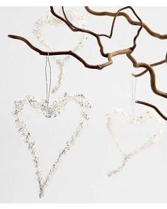 Hjärta av droppärlor