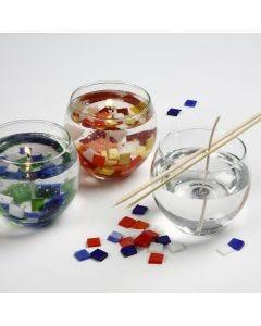 Geléljus dekorerad med glasmosaik