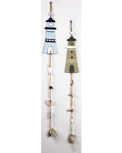 Hängande dekoration med fyrtorn och snäckor