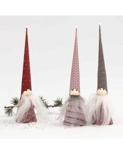 Kägeltomtar i Vivi Gade Design papper och Silk Clay