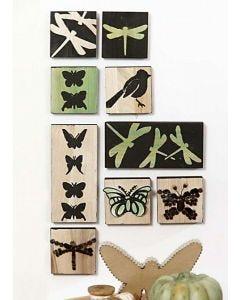 Gröna ikoner med 3D-mosaik
