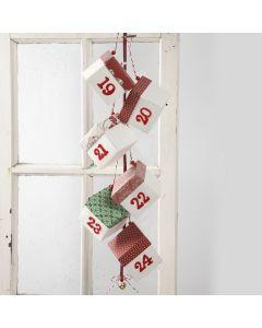 Julkalender med vik-själv askar