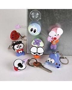 Silk Clay nyckelfigurer