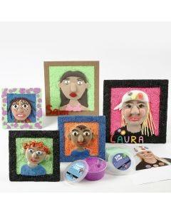 Självporträtt med Silk Clay