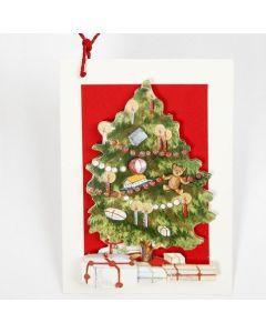 3D-kort med julgran