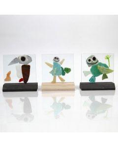 Glasplattor med mosaik