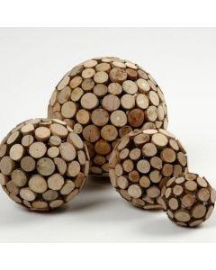 Frigolitkulor med träskivor