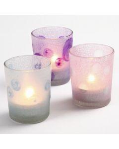 Ljusglas med Glas Frost