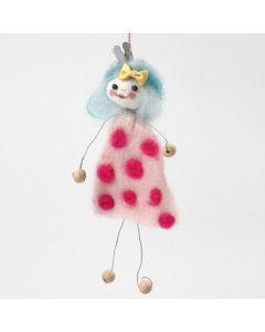 Figur av vindseltråd med klänning