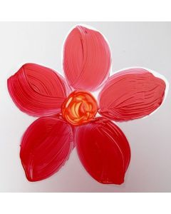 Målad blomma av hårdfolie