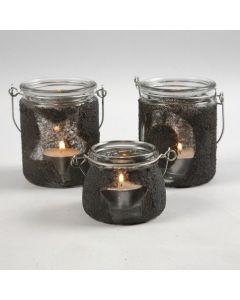 Ljusglas med motiv och strukturfärg