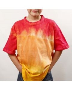 Dip'n dye och batik på T-shirt