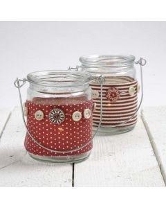 Ljusglas med bälte i tyg från Vivi Gade Design