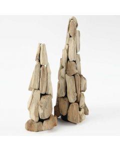 Träd av småpinnar, satta på en kägla