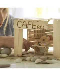 Café av glasspinnar