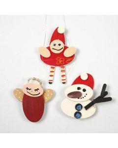 Julfigurer av målad trämosaik