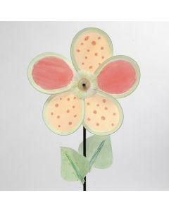 Dekorerad blomstervindlek av blomblad i nylon